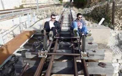 "Railbiking in Greece |  Από το ""rail=ράγα καιτο biking= ποδηλασία"""